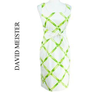 David Meister Sleeveless Bamboo Print Dress